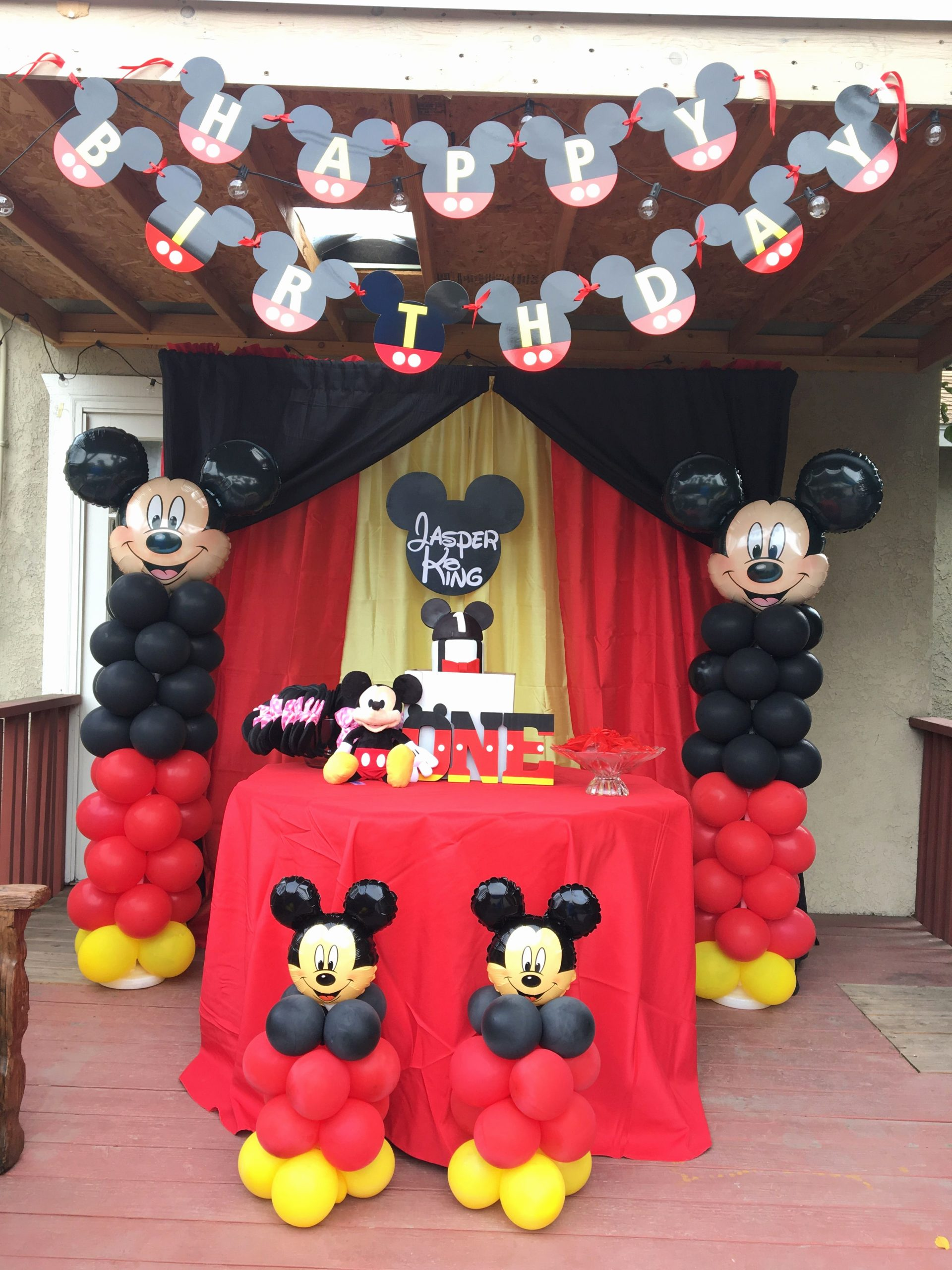 Mickey Mouse Clubhouse Birthday Decoration Ideas Beautiful Mickey Mouse Cake Table Backdrop Decor Lalaspartycreations5