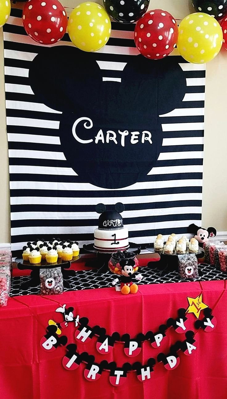 Mickey Mouse Clubhouse Birthday Decoration Ideas Lovely Mickey Mouse Clubhouse Birthday Backdrop for Your Kid