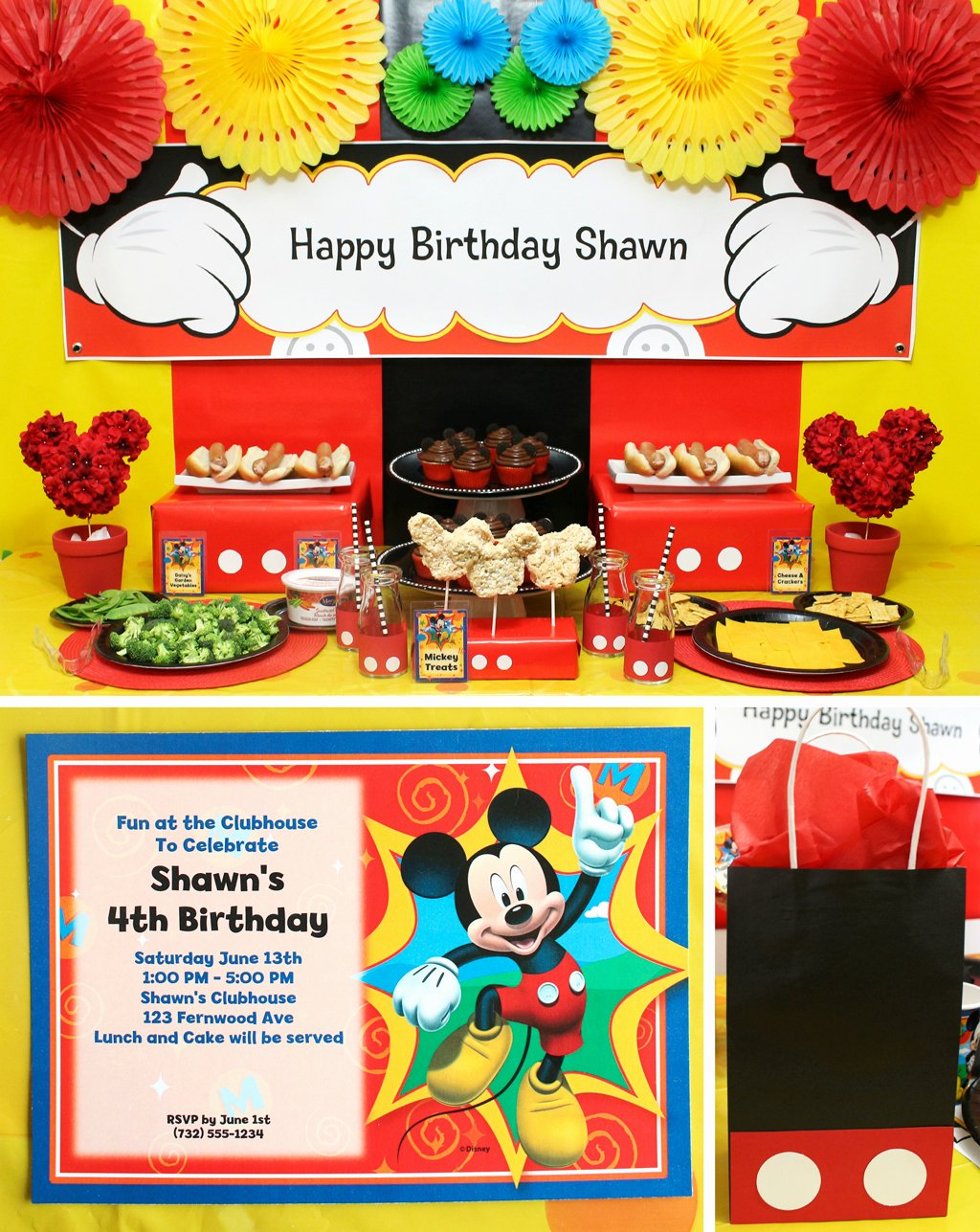 Mickey Mouse Clubhouse Birthday Decoration Ideas Unique Mickey Mouse Party