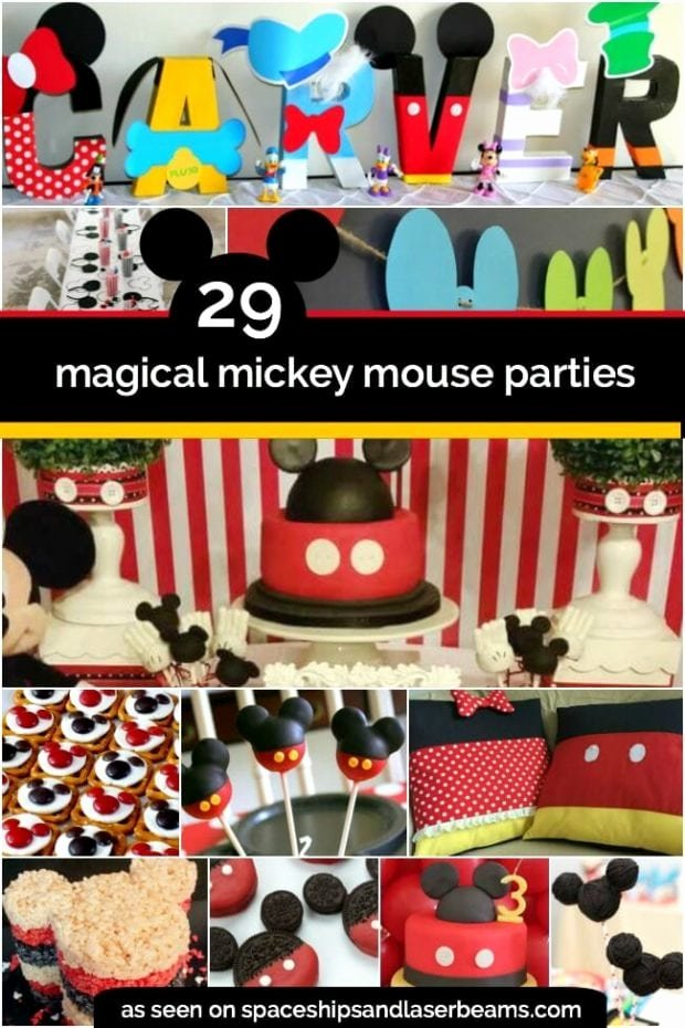 Mickey Mouse First Birthday Decoration Ideas Awesome 29 Mickey Mouse Birthday Party Ideas Spaceships and Laser