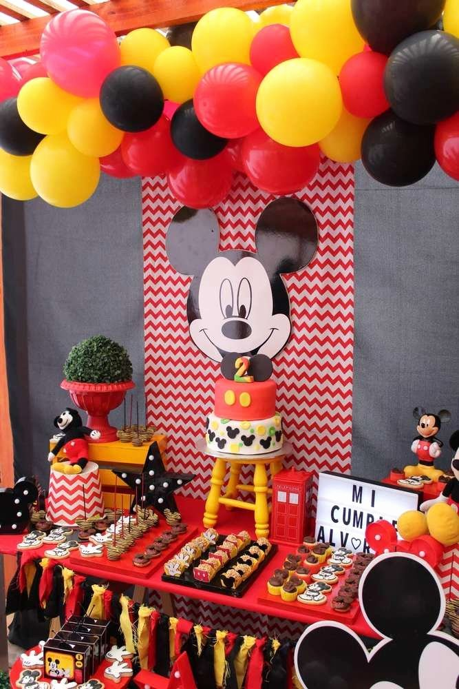Mickey Mouse First Birthday Decoration Ideas Elegant Mickey Mouse Birthday Party Ideas 3 Of 11