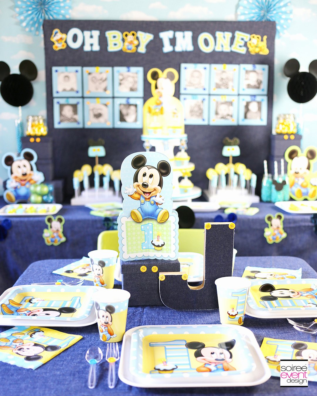 Mickey Mouse First Birthday Decoration Ideas Elegant Mickey Mouse First Birthday Party Ideas soiree event Design
