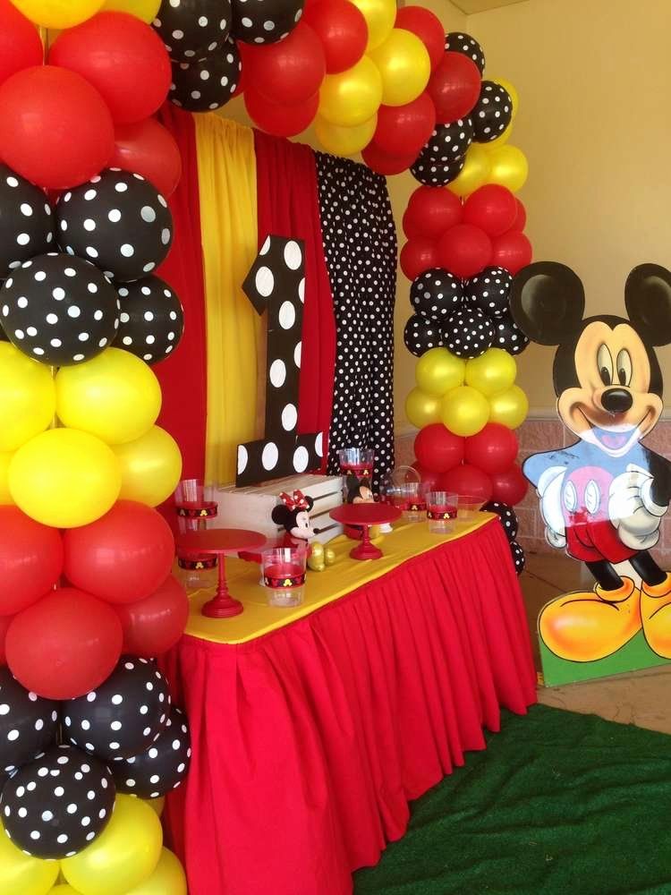 Mickey Mouse First Birthday Decoration Ideas New Mickey Mouse Birthday Party Ideas 9 Of 11
