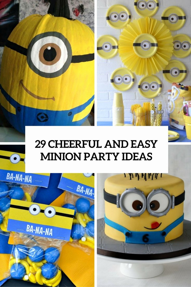 Minion Birthday Decoration Ideas Awesome 29 Cheerful and Easy Minion Party Ideas Shelterness
