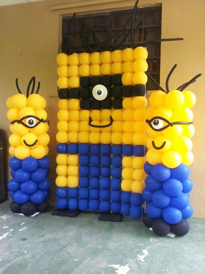 Minion Birthday Decoration Ideas Beautiful Despicaable Me Minion Balloon Wall