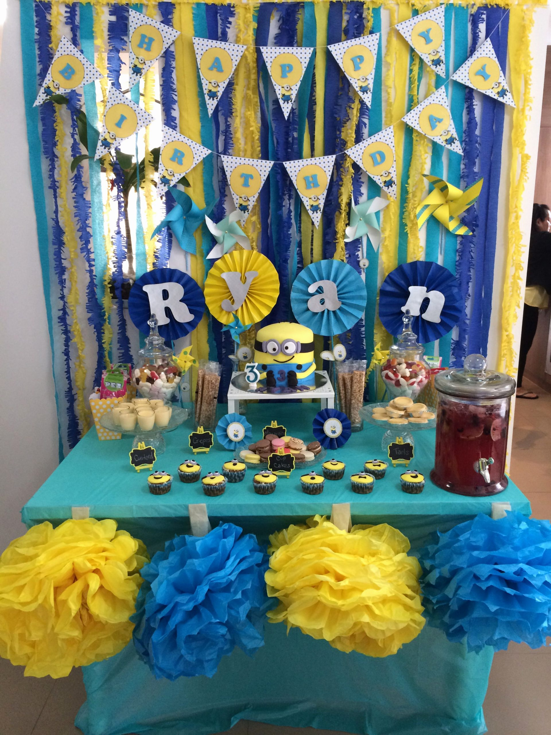 Minion Birthday Decoration Ideas Best Of Minion themed Dessert Table