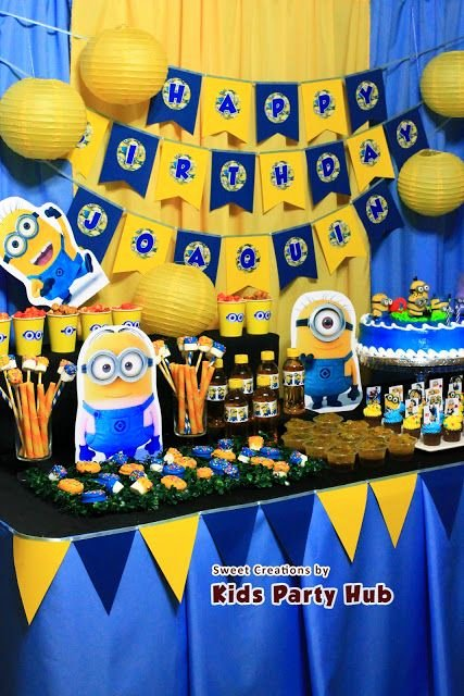 Minion Birthday Decoration Ideas Best Of Pin by Aydee Y Antonio Loz On Despicable Me Party