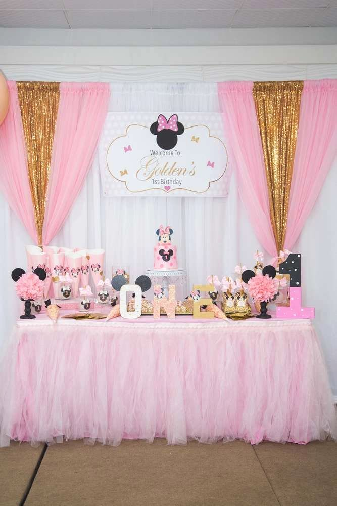 Minnie Birthday Decoration Ideas Beautiful Minnie Mouse Princess Birthday Party Ideas