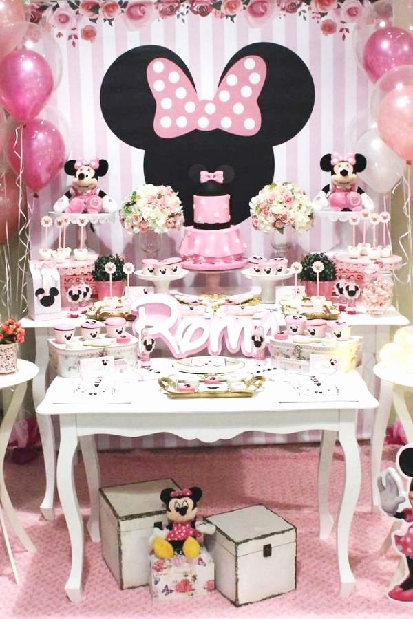 Minnie Birthday Decoration Ideas Elegant Mickey Mouse Minnie Mouse Birthday Party Ideas