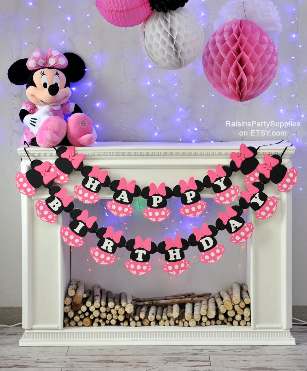 Minnie Birthday Decoration Ideas Elegant Minnie Mouse Birthday Decorations Pink Inspired Disney