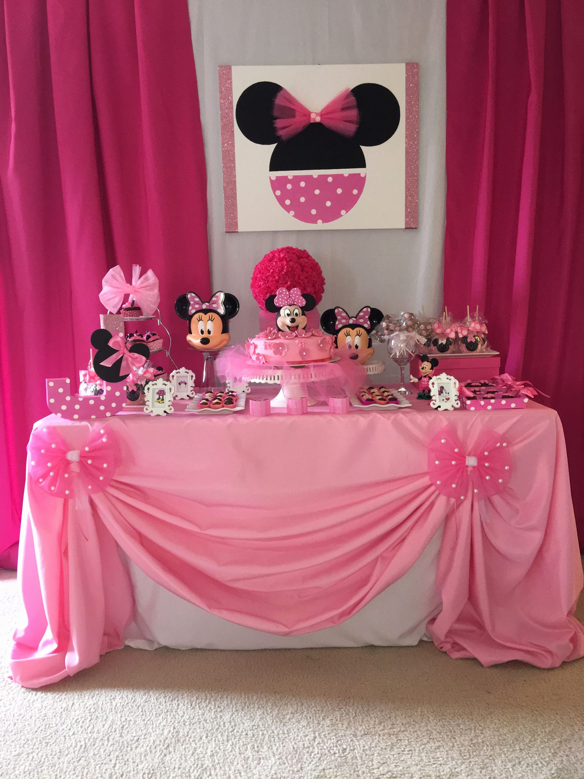Minnie Birthday Decoration Ideas Fresh Minnie Party Ideas