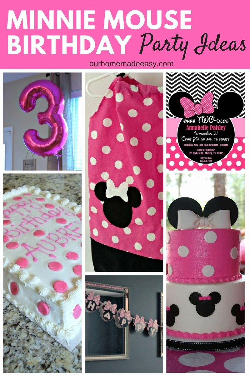 Minnie Birthday Decoration Ideas New Minnie Mouse Birthday Party