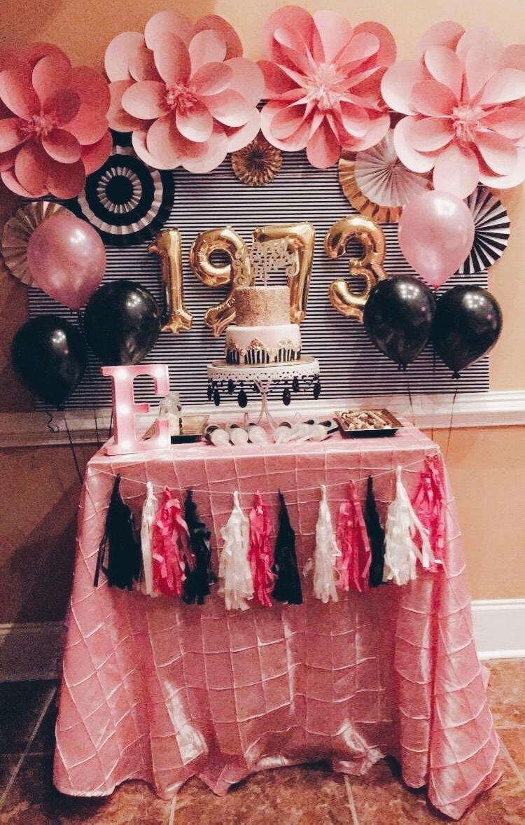 Mom Birthday Decoration Ideas Inspirational Moms 44th Birthday 44birthday Katespadebirthday 44 Cake