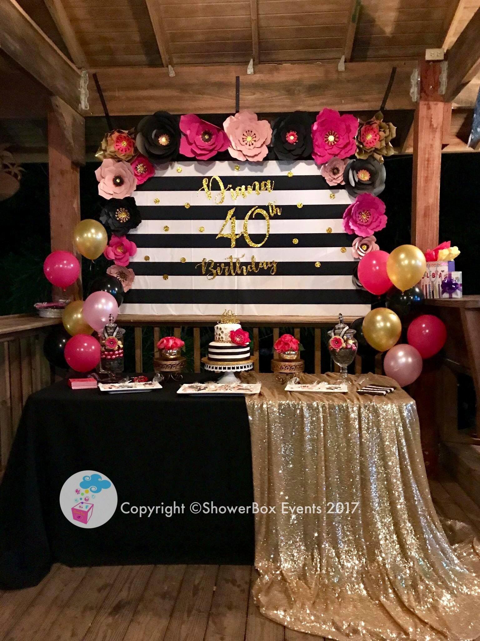 Mom Birthday Decoration Ideas Unique 40th Birthday Showerbox events 2017 Like Us On Fb