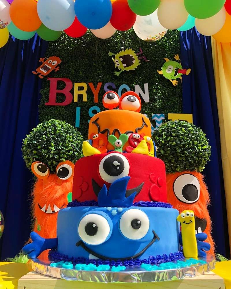 Monster Birthday Decoration Ideas Beautiful Bryson Turns One Catchmyparty