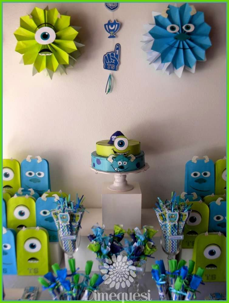Monster Birthday Decoration Ideas Beautiful Monsters Inc Birthday Party Ideas 2 Of 20