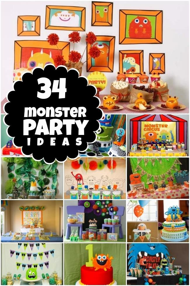 Monster Birthday Decoration Ideas Best Of 34 Monster Birthday Party Ideas Spaceships and Laser Beams