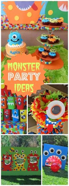 Monster Birthday Decoration Ideas Luxury 200 Best Monster Party Ideas Images In 2020
