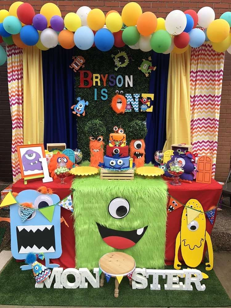 Monster Birthday Decoration Ideas Luxury Bryson S Silly Monster theme Birthday Party Ideas