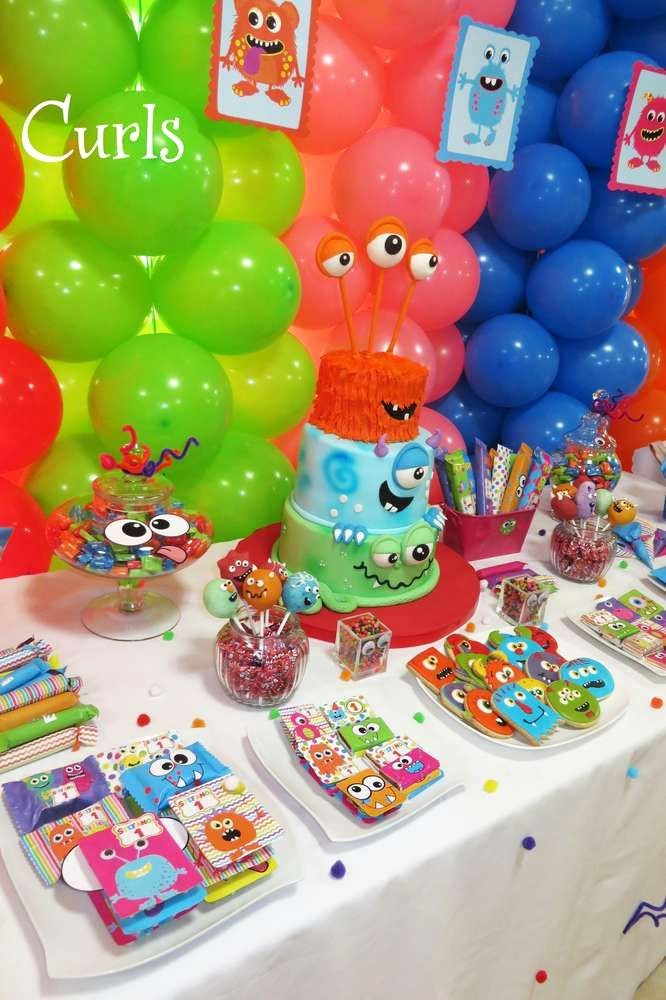 Monster Birthday Decoration Ideas New Monsters Birthday Party Ideas 1 Of 25