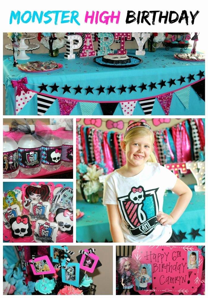 Monster High Birthday Decoration Ideas Fresh Monster High Party Cami S 6th Birthday – Ellery Designs