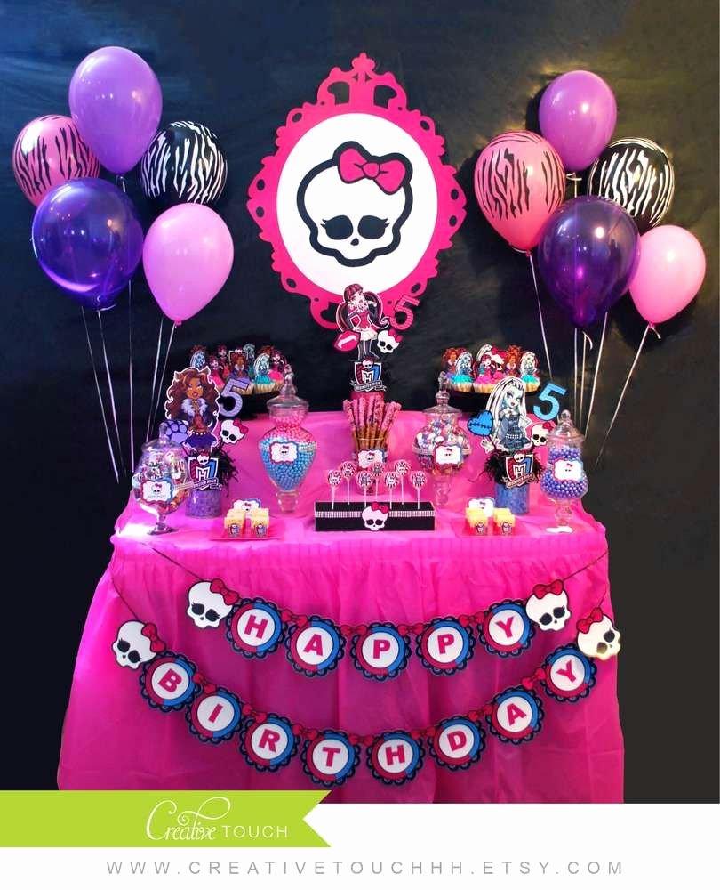 Monster High Birthday Decoration Ideas Luxury Monster High Birthday Party Ideas 23 Of 25
