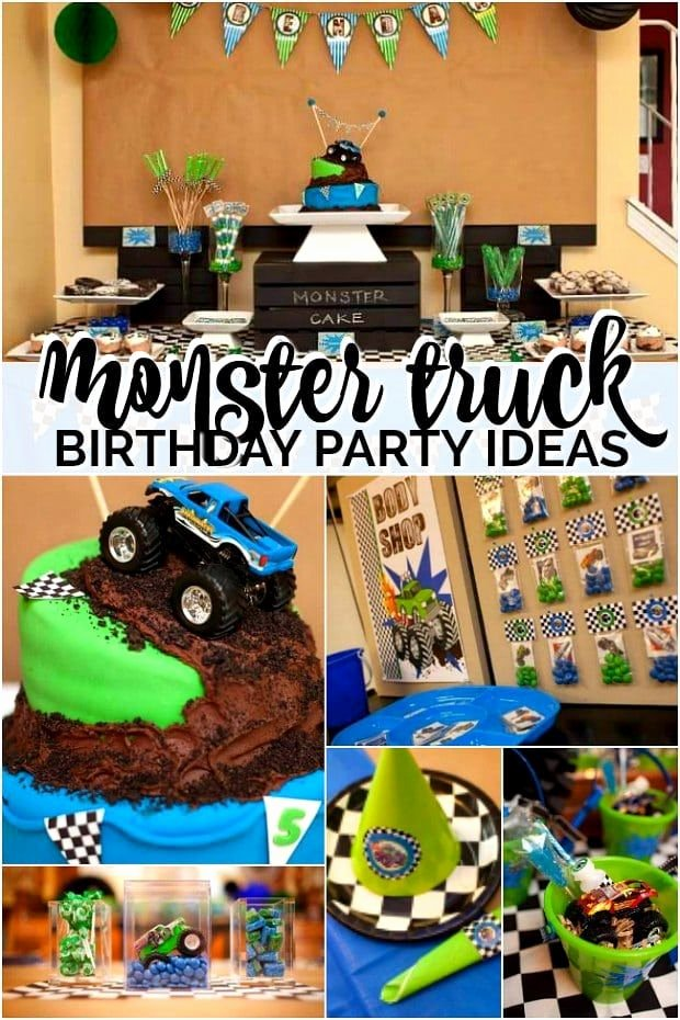 Monster Truck Birthday Decoration Ideas Awesome Monster Truck Birthday Party Dessert Table