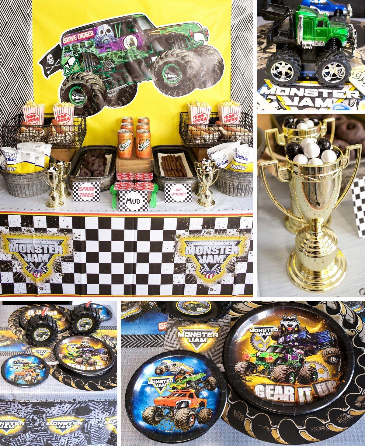 Monster Truck Birthday Decoration Ideas Beautiful Monster Truck Party Ideas