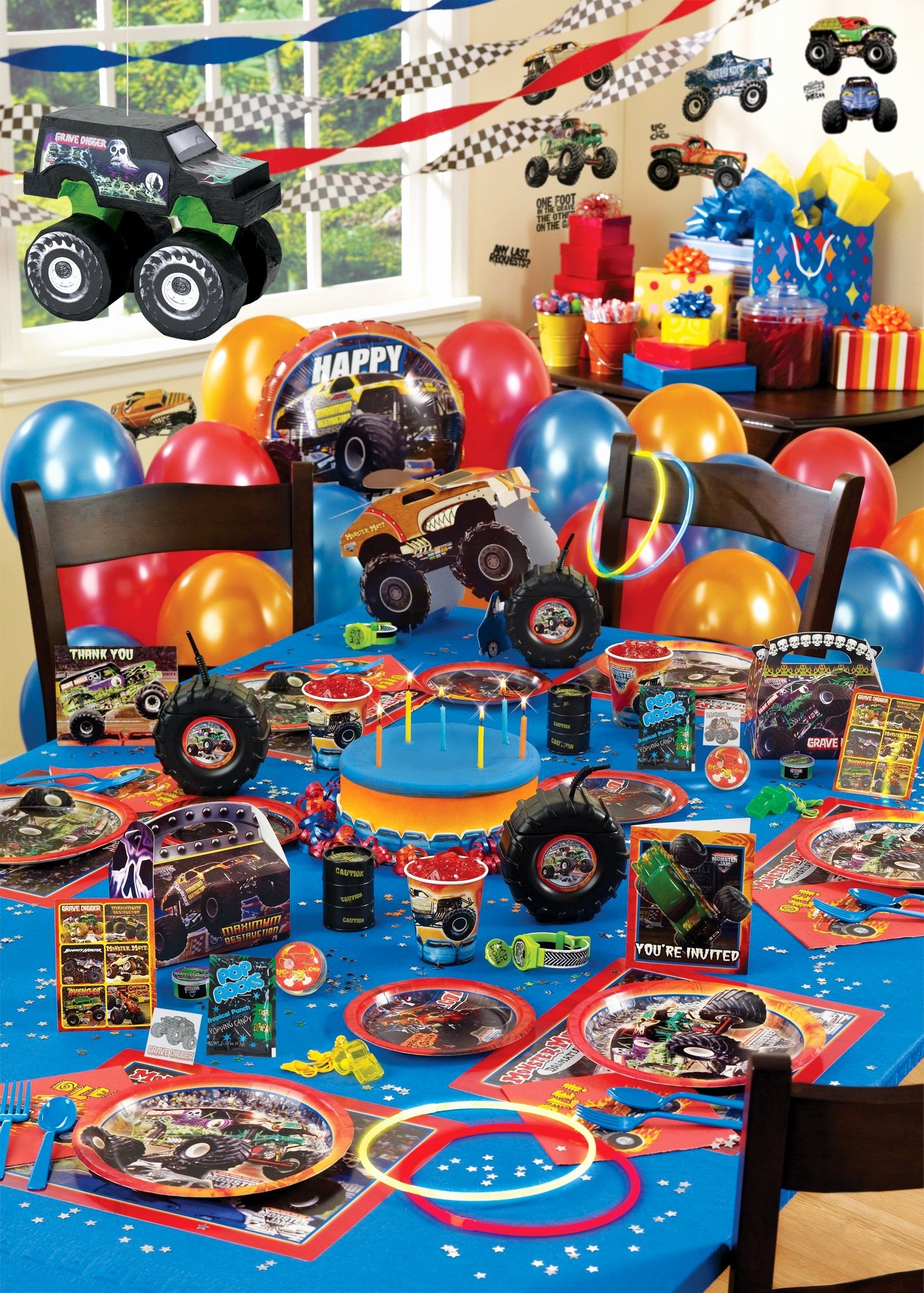 Monster Truck Birthday Decoration Ideas Best Of Monster Jam 3d Party Packs