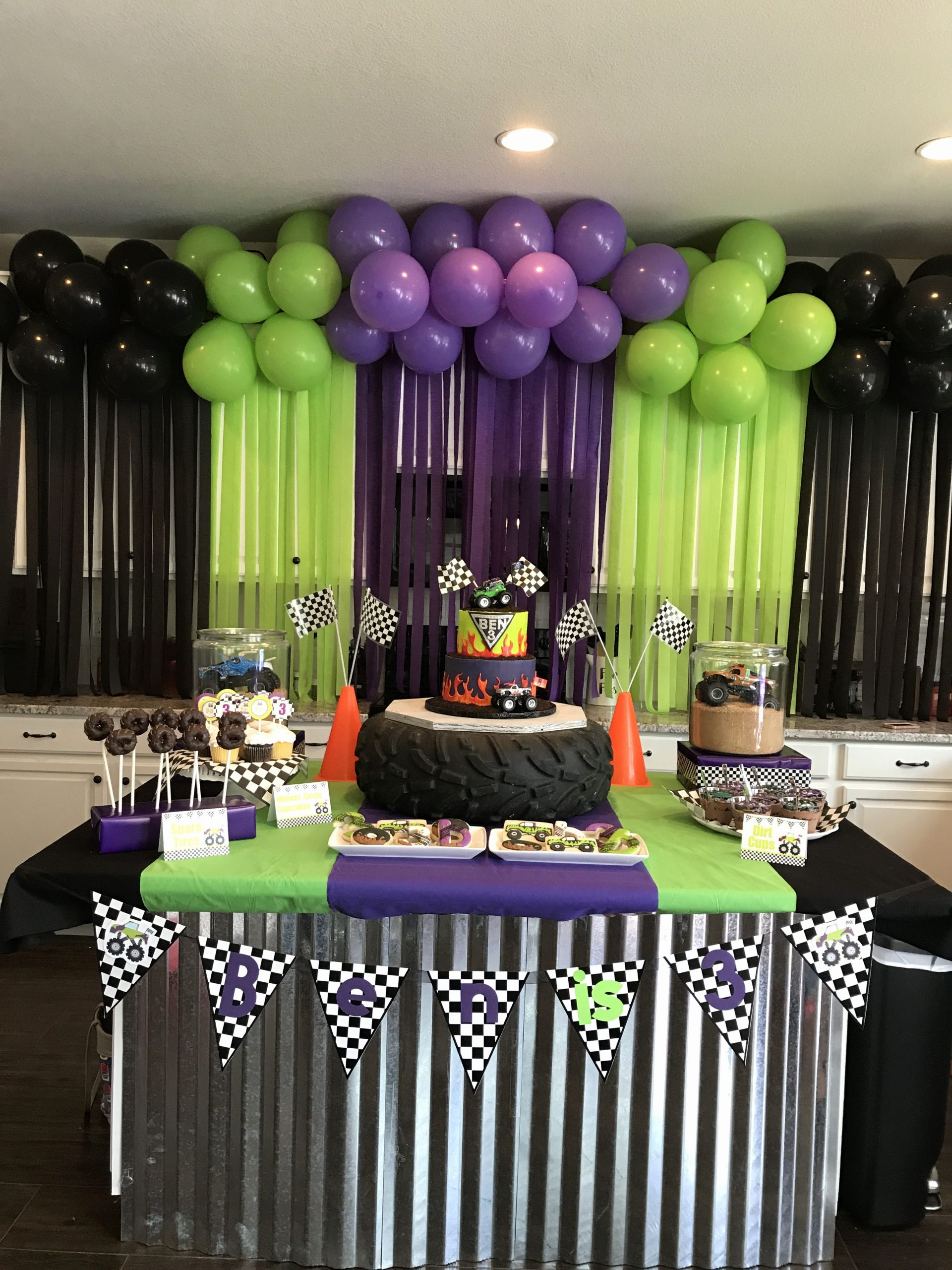 Monster Truck Birthday Decoration Ideas Elegant Monster Jam Birthday Party