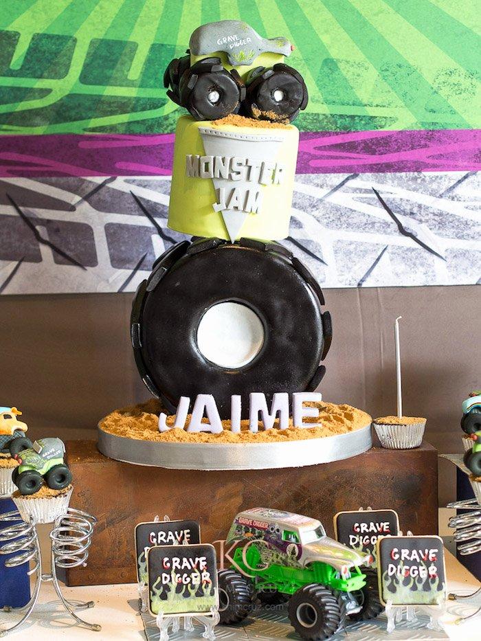 Monster Truck Birthday Decoration Ideas Fresh Kara S Party Ideas Monster Truck Monster Jam Birthday Party