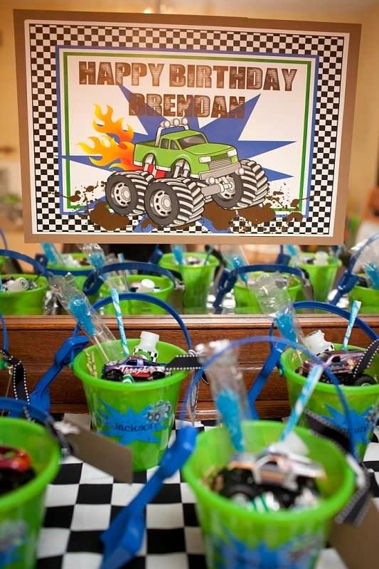 Monster Truck Birthday Decoration Ideas Fresh Monster Truck Birthday Party Dessert Table 202