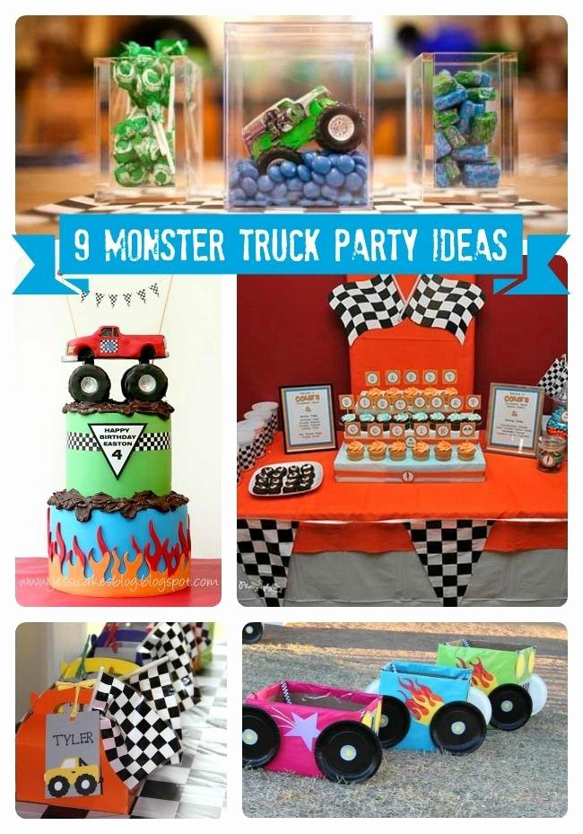 Monster Truck Birthday Decoration Ideas Inspirational 9 Monster Truck Party Ideas Spaceships and Laser Beams