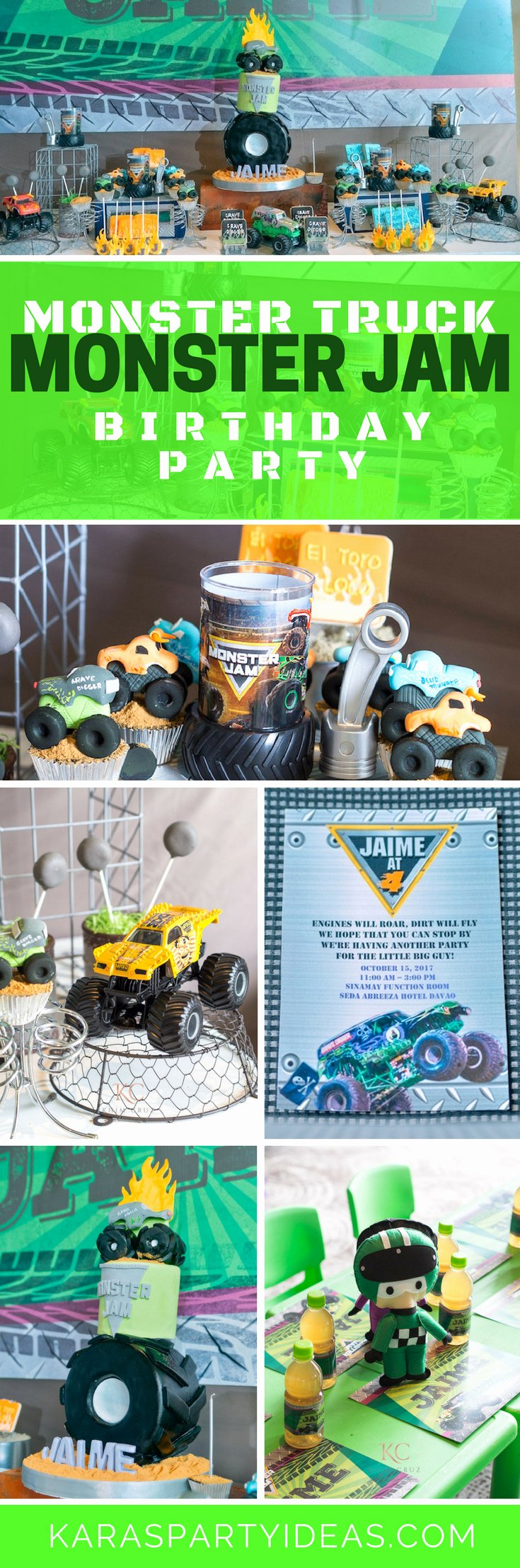 Monster Truck Birthday Decoration Ideas New Kara S Party Ideas Monster Truck Monster Jam Birthday Party