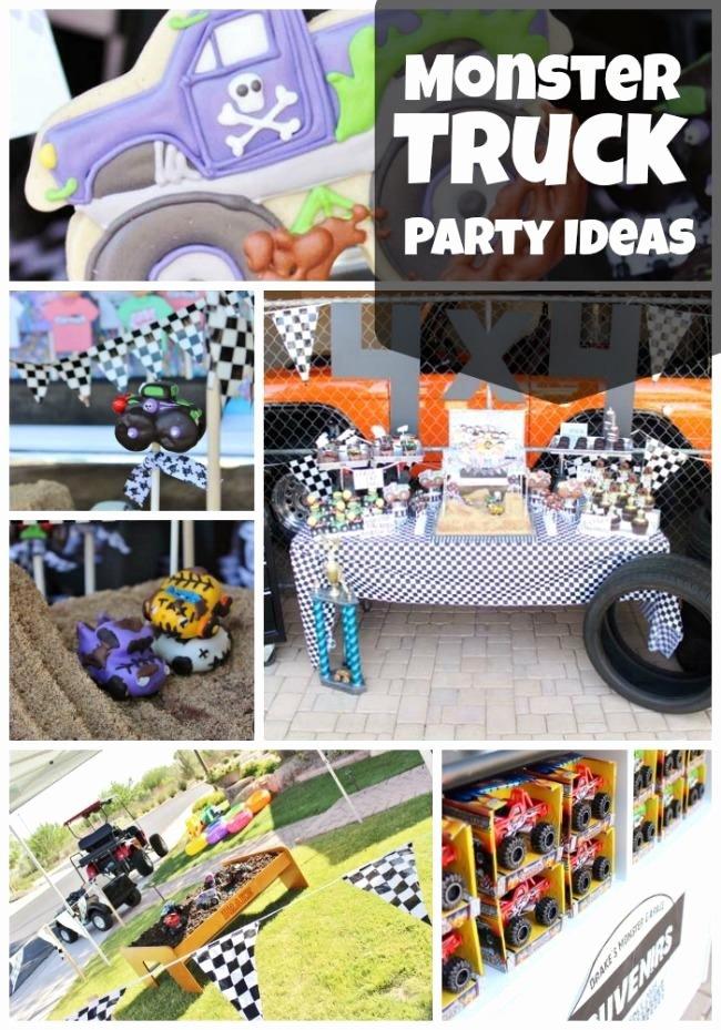 Monster Truck Birthday Decoration Ideas Unique Monster Truck 4th Birthday Party Spaceships and Laser Beams