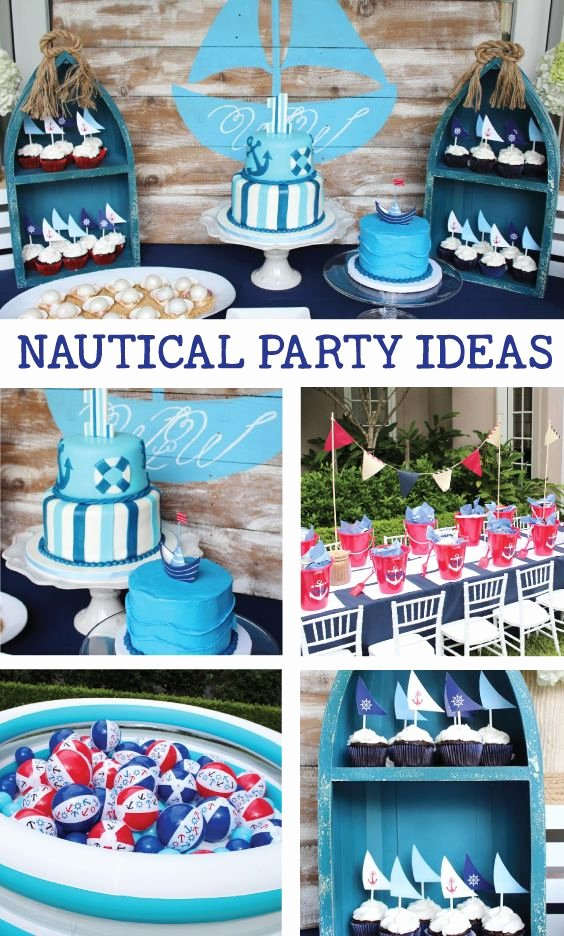 Nautical Birthday Decoration Ideas Best Of Nautical Birthday Party Ideas Crowning Details