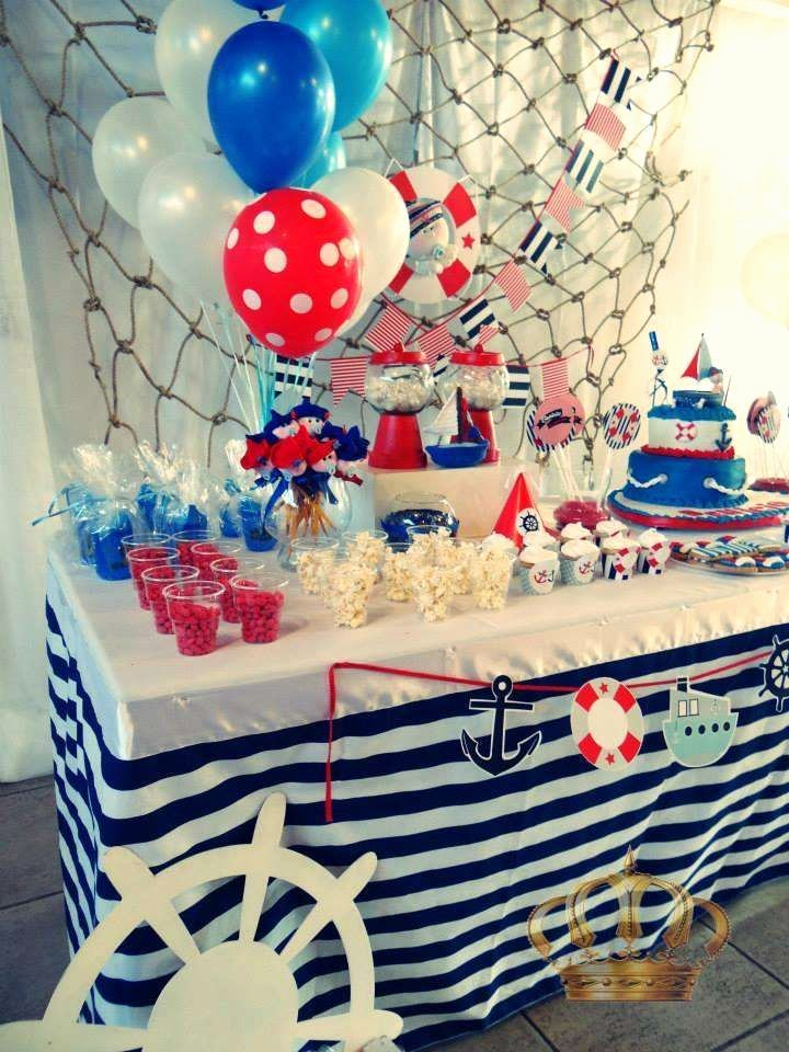 Nautical Birthday Decoration Ideas Elegant Nautico Birthday Party Ideas