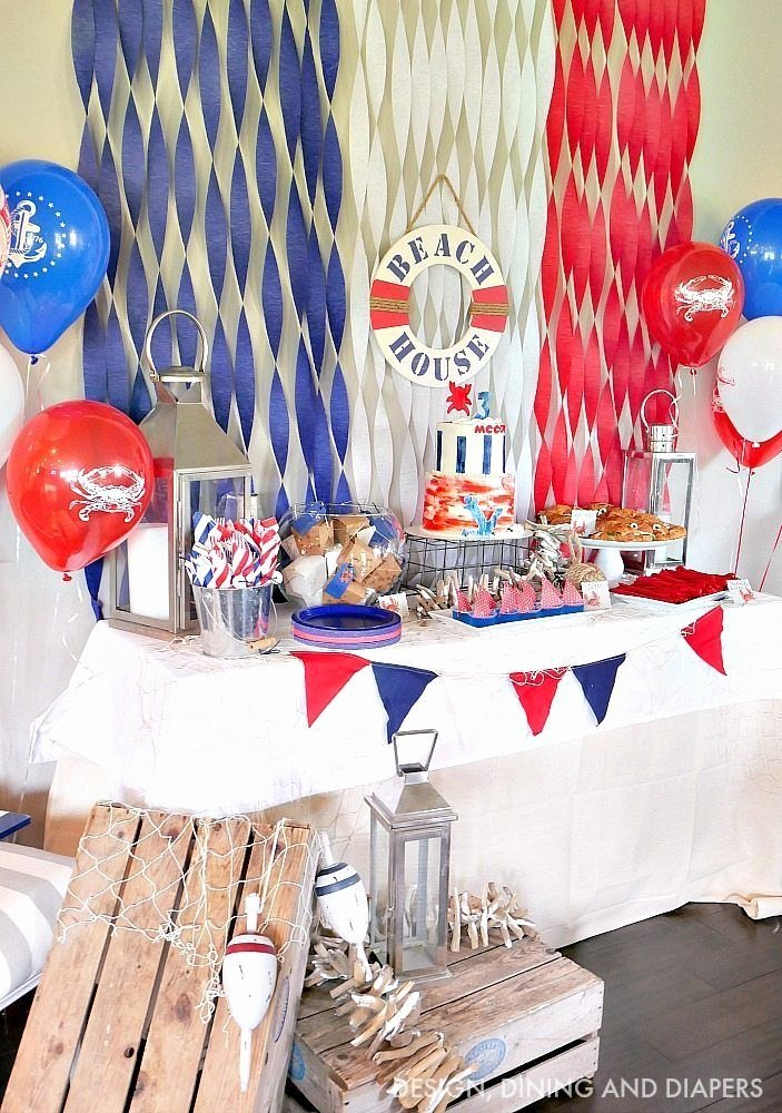 Nautical Birthday Decoration Ideas Inspirational Nautical Birthday Party Ideas Great for A Kid S Party