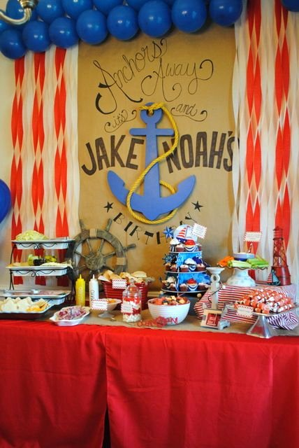 Nautical Birthday Decoration Ideas Lovely Sailor Nautical Birthday Party Ideas