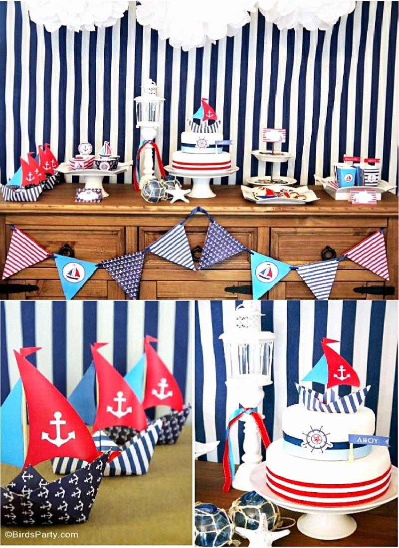 Nautical Birthday Decoration Ideas Luxury A Preppy Nautical Birthday Party Deserts Table