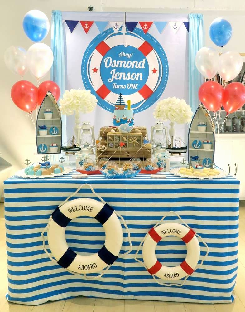 Nautical Birthday Decoration Ideas Luxury Nautical theme Birthday Party Ideas