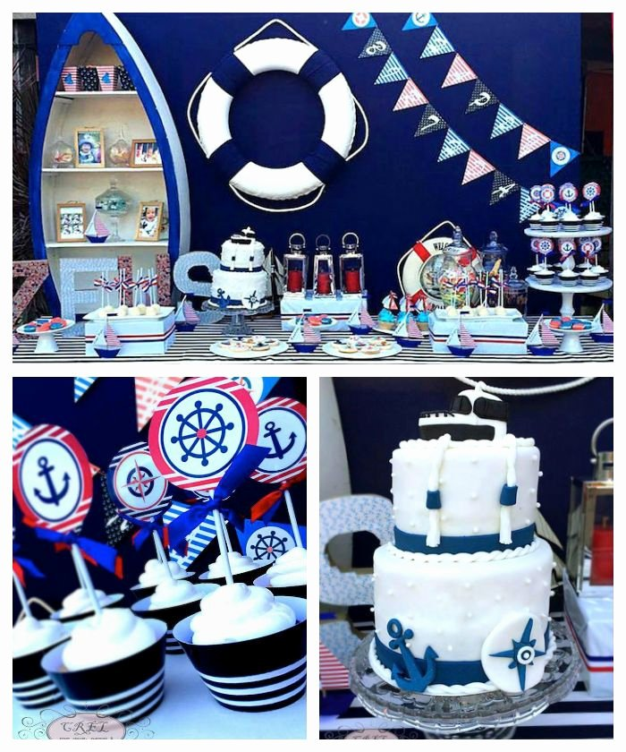 Nautical Birthday Decoration Ideas New Nautical themed First Birthday Party