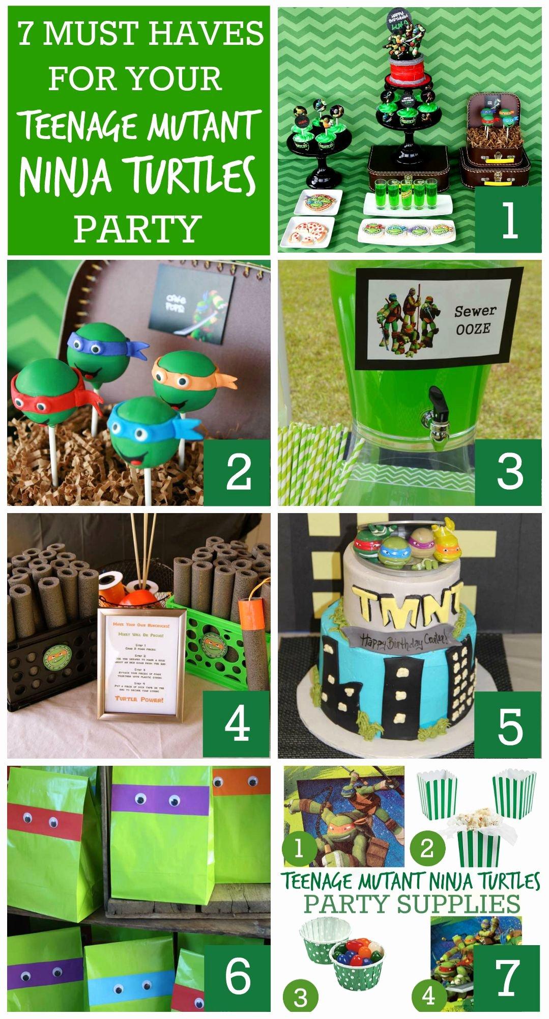 Ninja Turtle Birthday Decoration Ideas Beautiful 7 Must Have Teenage Mutant Ninja Turtles Party Ideas