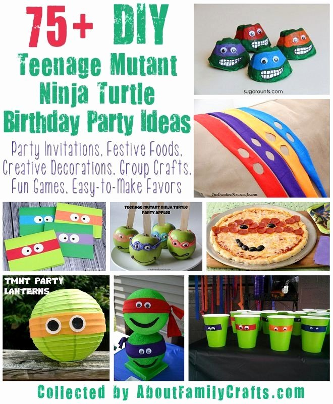 Ninja Turtle Birthday Decoration Ideas Lovely 75 Diy Teenage Mutant Ninja Turtles Birthday Party Ideas
