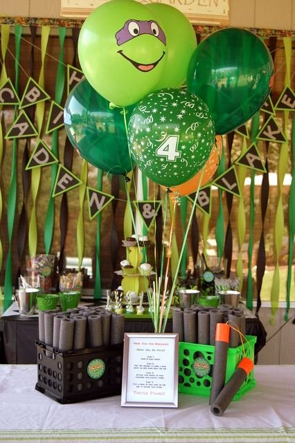 Ninja Turtle Birthday Decoration Ideas Unique Teenage Mutant Ninja Turtles Birthday Party Ideas