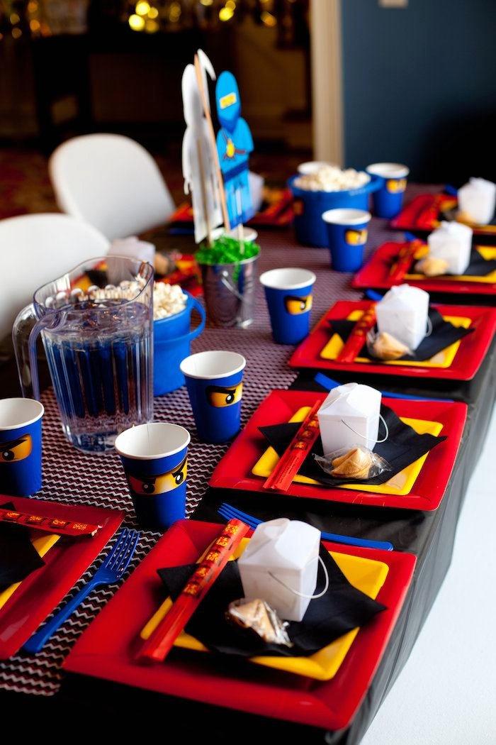 Ninjago Birthday Decoration Ideas Inspirational Kara S Party Ideas Ninjago themed Birthday Party Planning