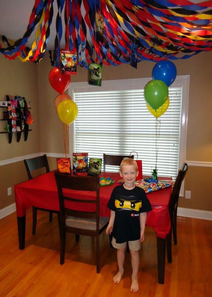 Ninjago Birthday Decoration Ideas Unique Lego Ninjago themed Birthday Party