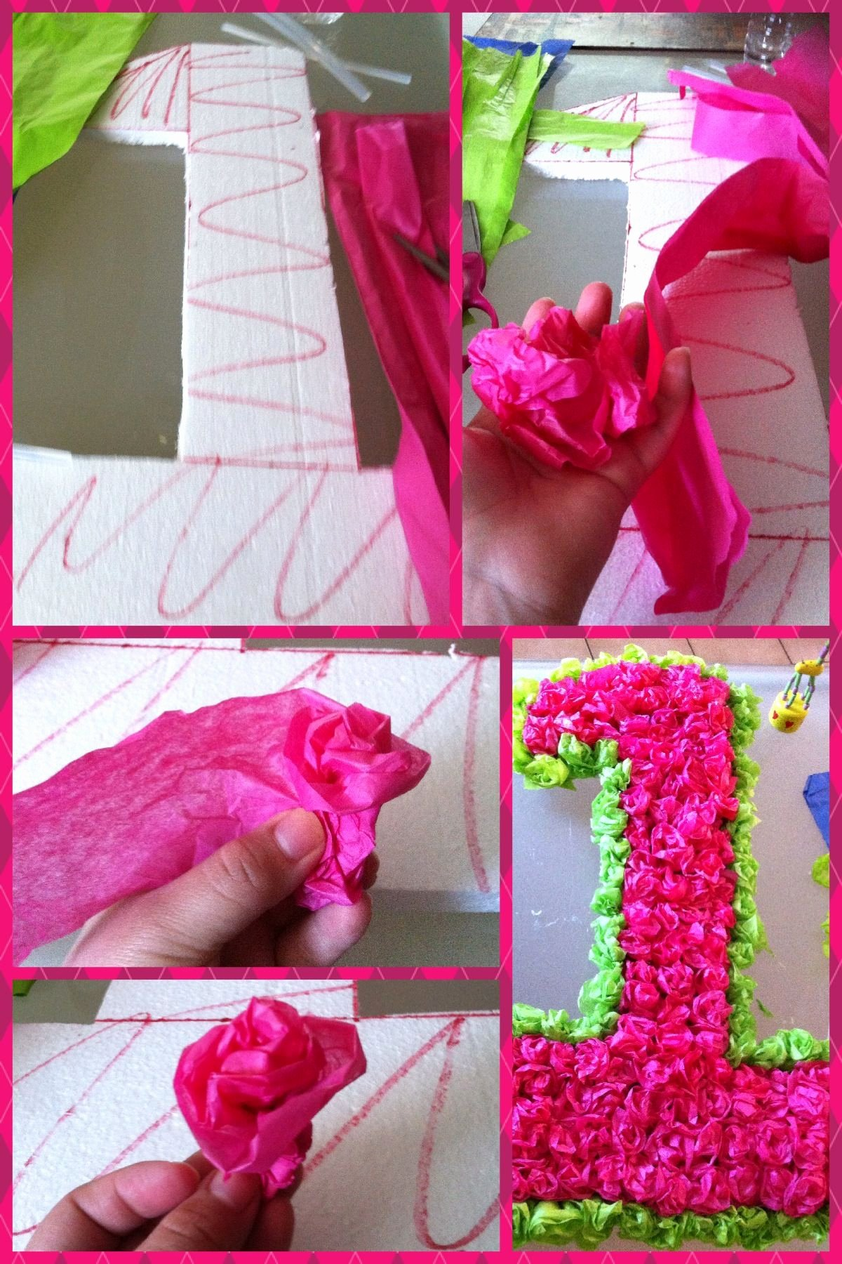 Number 1 Birthday Decoration Ideas Awesome Birthday Party Tissue Paper Number One Diy Craft Jacky