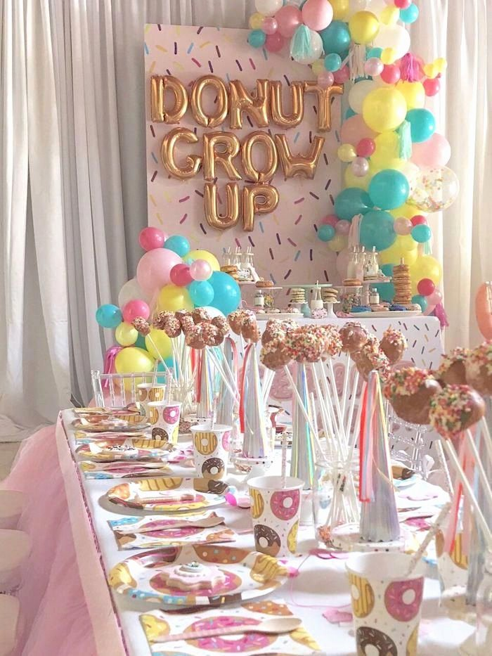 "Number 1 Birthday Decoration Ideas New Birthday Decoration Ideas Donut Party Tables From A ""donut"