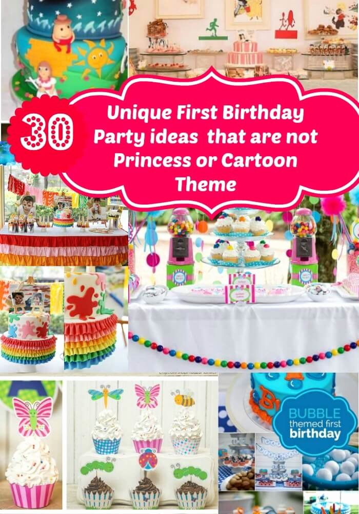 One Year Birthday Decoration Ideas Unique Unique First Birthday Party Ideas for Girls No Princess